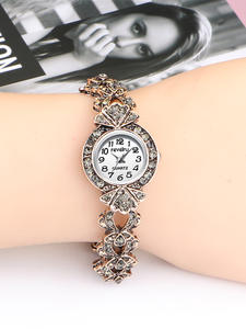 QINGXIYA Bracelet Watches Shining Women Crystal Dress Quartz Gold Hot-Sales Ladies Fashion