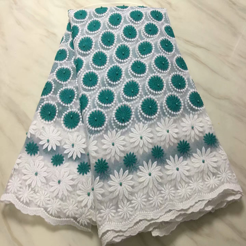 Best Selling African Woven Lace Fabric With Stones 2019 Floral High Quality Nigerian French Tulle Lace Fabric For Sewing Dress