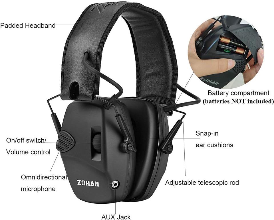 H64ca14e0caca465b94964587e2f6a11aE - หูฟังลดเสียง ป้องกันหู ที่ปิดหู ลดเสียงดังที่ได้ยิน ลดการได้ยินเสียง NRR22dB Professional