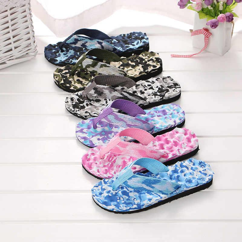 2020 קיץ נשים כפכפים נעלי סנדלי הסוואה חיצוני חוף נעלי כפכפים יומי ללבוש מזדמנים גודל 36-40