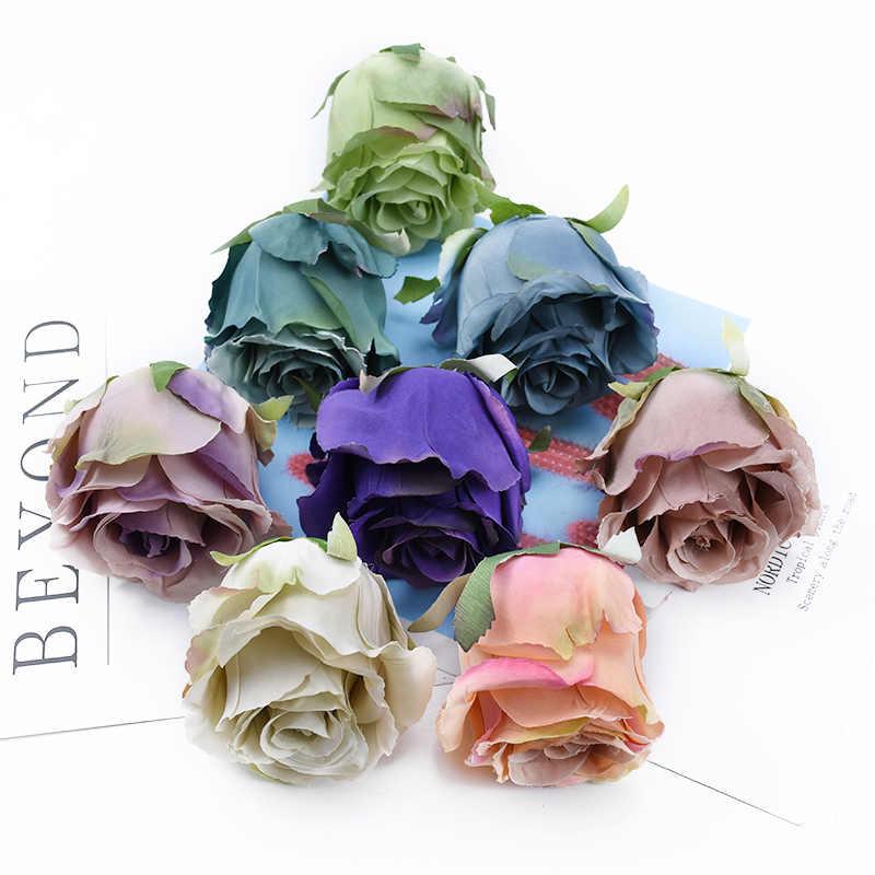 2/5 חתיכות ורדים ראש חתונה דקורטיבי פרחי זרי כלה זר חומר חג המולד קישוט לבית מלאכותי פרח