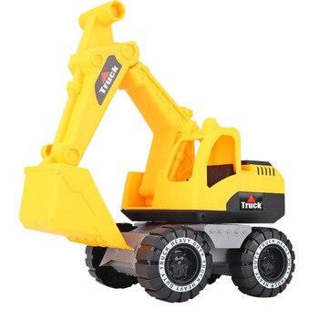 Simulação do bebê engenharia carro brinquedo escavadeira modelo trator brinquedo caminhão basculante modelo de carro brinquedo mini presente para o menino