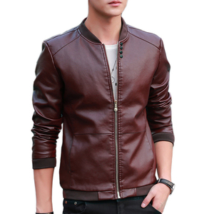 Image 3 - 2019 Autumn Winter Mens Leather Coat Korean Slim Fit Leather Jackets Size M 4XL Fashion Casual Outwear for Man Jacket
