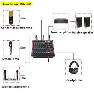 Image 5 - Freeboss MINI6 P 6 canaux puissance Console de mixage amplificateur Bluetooth enregistrement 99 DSP effet 2x170W professionnel USB Audio Mixer