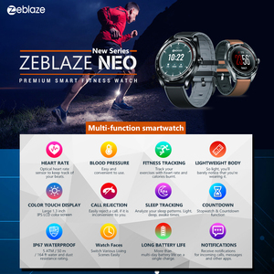"""Image 5 - Zeblaze reloj inteligente NEO para hombre, dispositivo de pulsera con pantalla IPS de 1,3 """", control del ritmo cardíaco y de la presión sanguínea, cronómetro y cámara remota"""