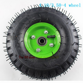 4.10/3.50-4 tire 3.50-4 pneumatic wheel trolley caster trailer wheel 10 inch 4.10-4 pneumatic wheel image
