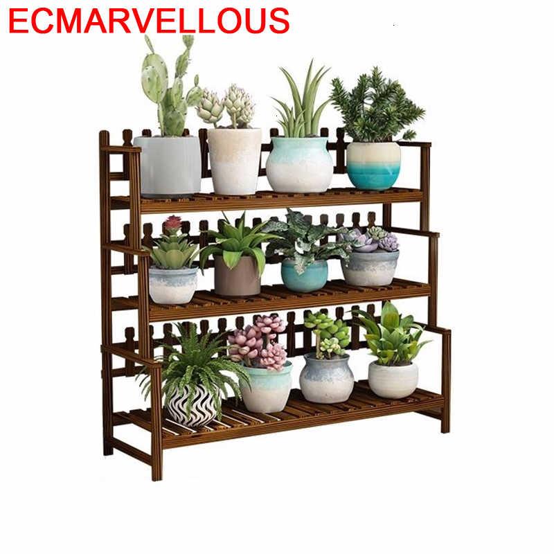 Ladder Shelf Indoor Estante Para Plantas Balkon Wooden Shelves For Rack Dekoration Outdoor Flower Stojak Na Kwiaty Plant Stand