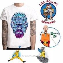 Camiseta de Breaking Bad para hombre, camiseta de LOS POLLOS Hermanos, camiseta de manga corta de Heisenberg, camisetas Hipster