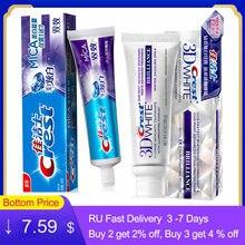 Зубная паста 3D White Crest, отбеливающая фтористая антиполостная Комплексная слюда с мятным вкусом