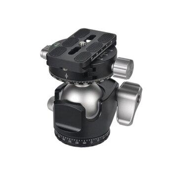 D-40 Professional Double Panoramic Head CNC Machining Ball Head Double U Notch for Tripod Monopod DSLR ILDC Cameras