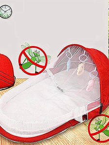 Folding Bed Chair Cot Nest Mosquito-Net Crib Baby Multi-Function Mobile Newborn Child