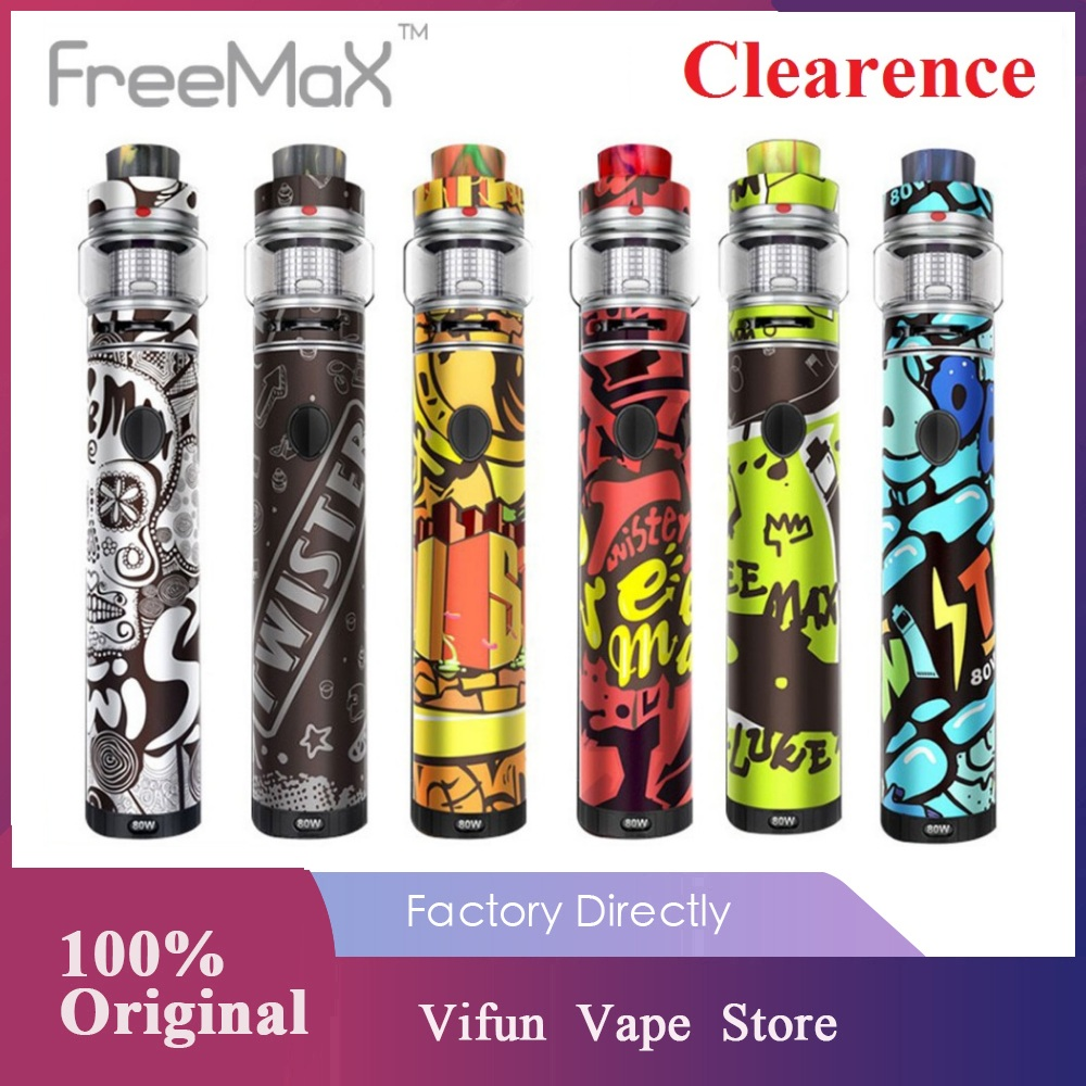 New Year Sale! Original 80W Freemax Twister Kit 2300mAh Built-in Battery 5ml Fireluke 2 Tank E-cigarette Vape Kit VS Vinci X Mod