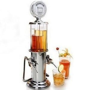Beer Dispenser Machine Drinking Vessels Globe Style Mini Novelty Fill Up Gas Pump Bar Drinking Alcohol Liquor Dispenser Bar