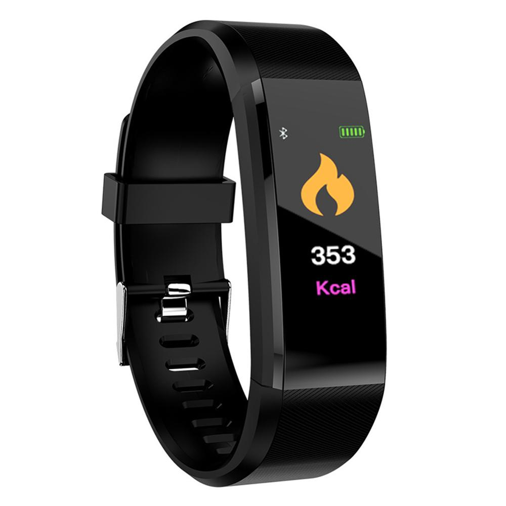 NEW 115Plus 0.96 Inch Color Screen Smart Bracelet Sport Smart Watch Blood Pressure Dynamic Heart Rate Monitoring Step Count