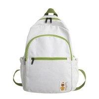Women Backpack Travel Luxury Laptop Korean Version Simple Small Fresh Bookbag Solid Color Ins School Bags for Teenage Girls