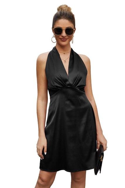 Фото женское платье с v образным воротом сексуальным вырезом на спине цена