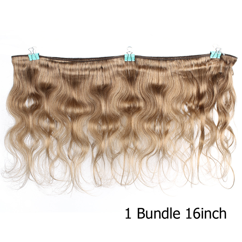 Image 3 - Bobbi Collection 2/3/4 Bundles Color 27 Honey Blonde Indian Body Wave Hair Weave Bundles Colored Remy Human Hair Weft 16 24 inch-in Hair Weaves from Hair Extensions & Wigs