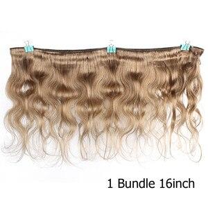 Image 3 - Bobbi Sammlung 2/3/4 Bundles Farbe 27 Honig Blonde Indische Körper Welle Haarwebart Pre Farbige nicht Remy Menschliches Haar Schuss 16 24 zoll