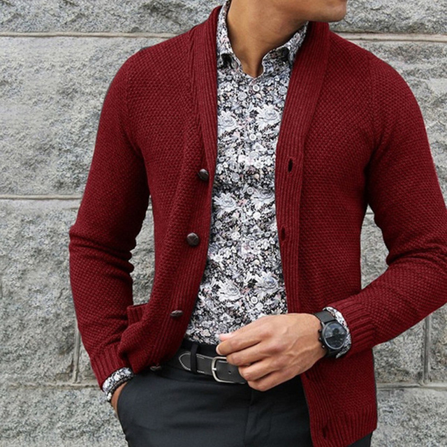New Fashion Thick Sweaters Cardigan Coat lapel Neck Men Sweater 2019 Winter Mens Warm Clothes Knitted Cardigans Suéter de hombre