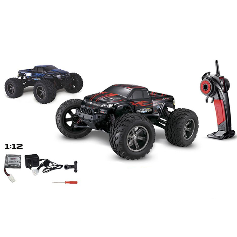 Hot Sale <font><b>9115</b></font> S911 <font><b>RC</b></font> <font><b>Truck</b></font> Remote Control Monster <font><b>Truck</b></font> Metal & Plastic <font><b>RC</b></font> Monster <font><b>Truck</b></font> Red/Blue With 2.4GHz Transmitter image