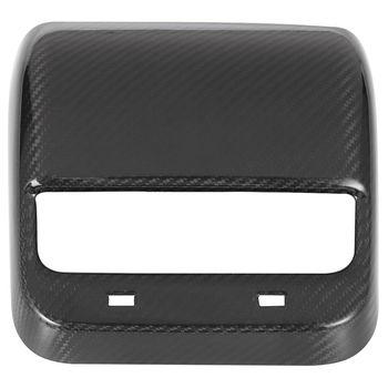 for Tesla 3 18-19 Dry Carbon Fiber Black Car Back Air Outlet Cover Decoration Board