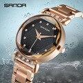 Топ Роскошные часы для женщин водонепроницаемый розовое золото Кристалл стальной ремешок женские наручные часы Лидирующий бренд браслет ч...