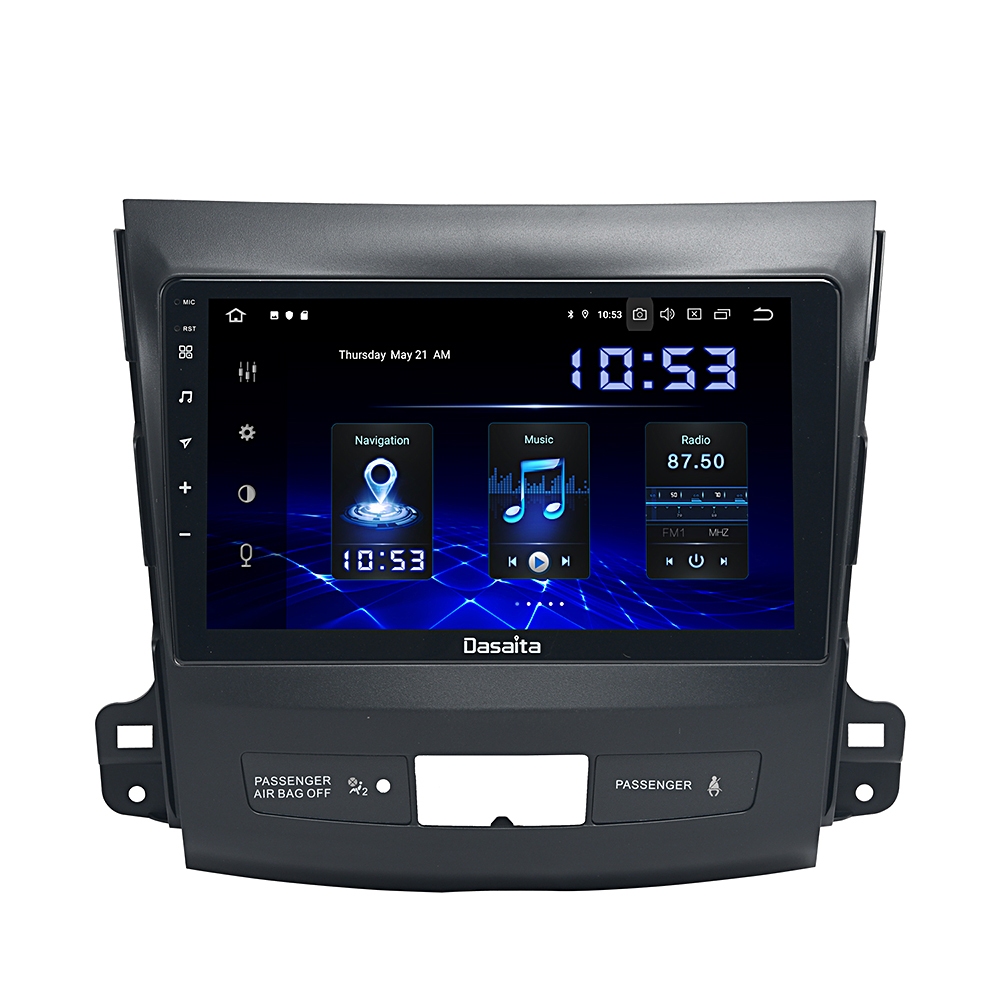 Car 1 Din TDA7850 Android 10.0 For <font><b>Mitsubishi</b></font> <font><b>Outlander</b></font> <font><b>2008</b></font> 2009 2010 2011 DSP 4G RAM HDMI Car Stereo Multi <font><b>Touch</b></font> <font><b>Screen</b></font> image