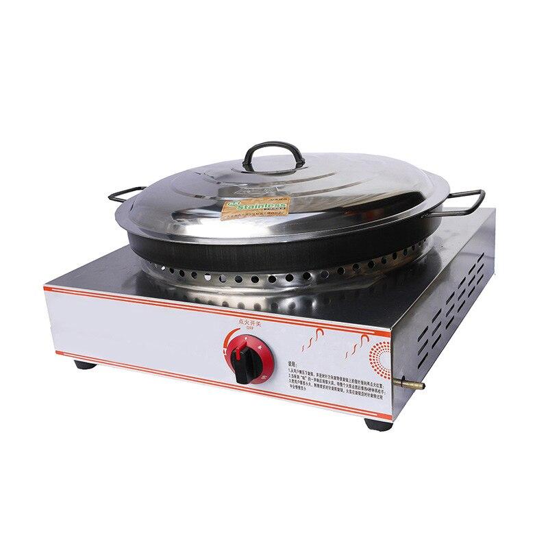 Commerical Gas Pancake Frying Oven Machine Furnace Frying Maker Table Decoction Pot Fried Dumpling Maker Pancake Machine HG 58