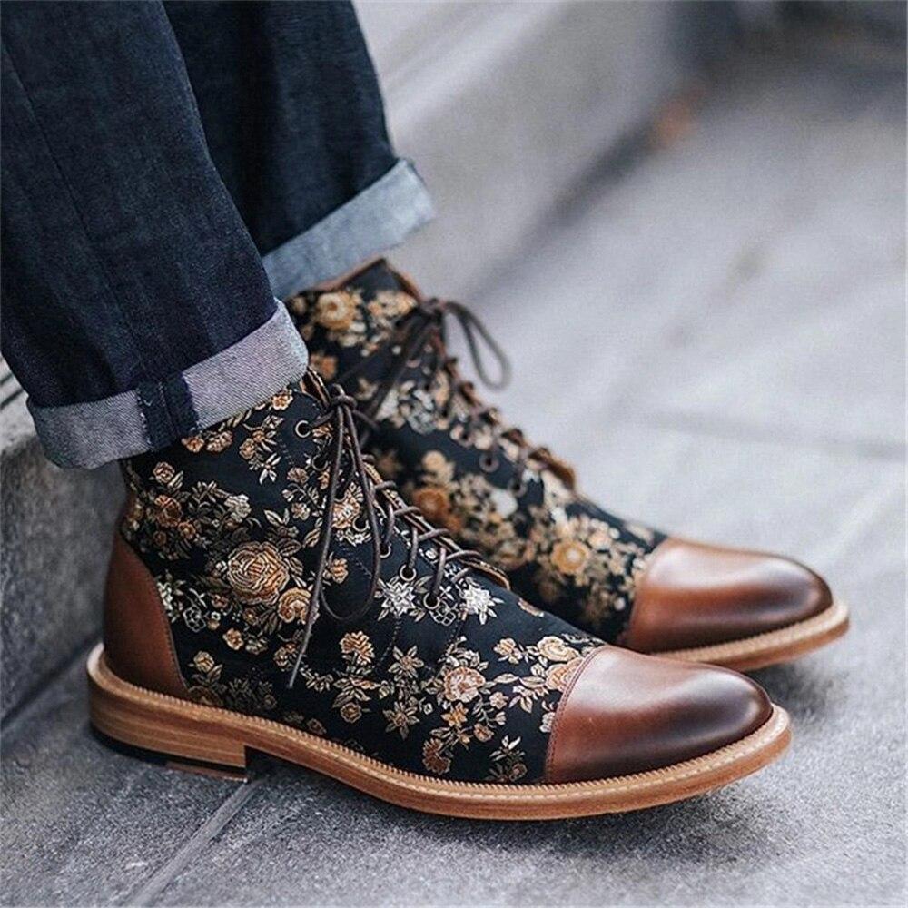 MRCAVE/мужские ботинки; модные ботинки с круглым носком; из искусственной кожи Обувь На Шнуровке; Zapatos De Hombre; зимние мужские ботинки; ботильоны с...