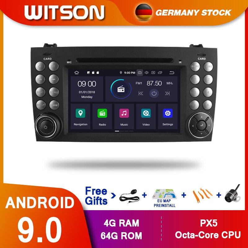 DE ESTOQUE! Reprodutor de gps slk r171 slk200 octa core 4 gb ram + 64 gb 8 o carro dvd de witson px5 android 9.0 dps para benz r171 w171