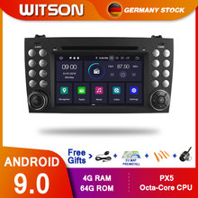 DE สต็อก! WITSON PX5 Android 9.0 DPS รถ DVD สำหรับ Benz R171 W171 Benz SLK R171 SLK200 GPS PLAYER OCTA Core 4GB RAM + 64GB 8(China)