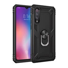 Shockproof Armor Magnetic Car Holder Kickstand TPU+PC Rotating Case For Xiaomi red Note 7 7pro 9 9SE K20 CC9 A3 7A Finger Ring