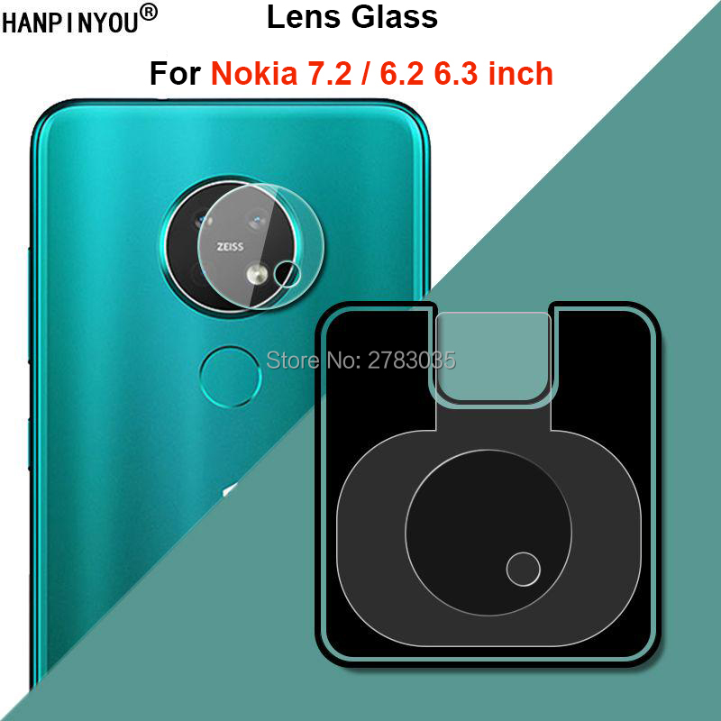 "For Nokia 7.2 6.2 6.3"" Clear Ultra Slim Back Camera Lens Protector Rear Camera Len Cover Soft Tempered Glass Film"