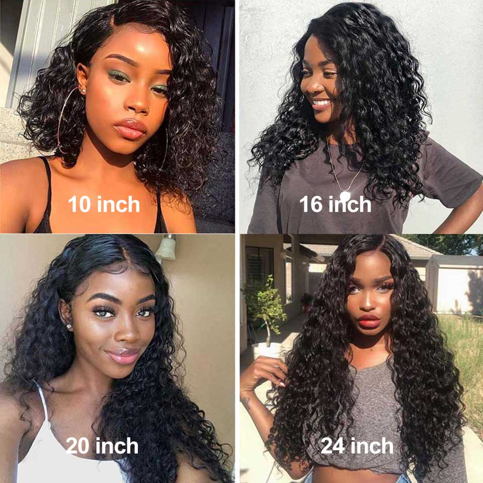 Sunber Water Wave glueless Lace Front Human Hair Wig Brazilian  Remy 13X4/6 150% density Pre Plucked Lace Wigs For Black Women