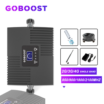 GOBOOST Cellular Amplifier 4G GSM 2G 3G Signal Booster LTE 1800 Repeater 900 2100 UMTS 850