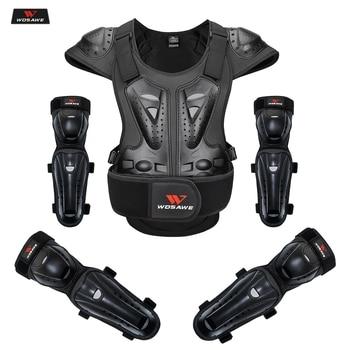 WOSAWE Motorcycle Men Protecitve Jackets High Visibility Reflective Shoulder Motocross Body Armor Back Protective Gear