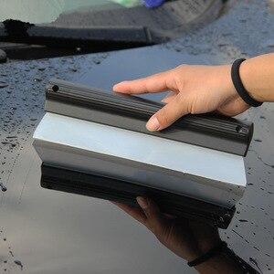 Image 5 - Dayanıklı araba su kazıyıcı yağmur temizleme kürek cam temiz fırça temizleyici silikon silecek T şekli pencere temiz fırça