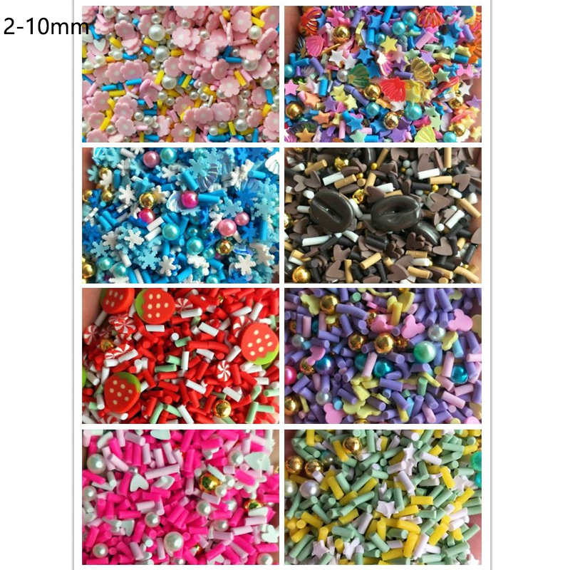 100g Mixed Polymer Clay Candy Pearl Sprinkles For Crafts DIY Decoration Fake Cake Dessert Simulation Food Dolls Mini Play Toys