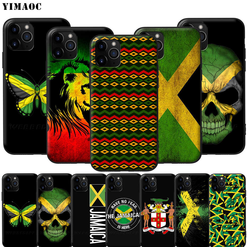 Yimaoc Jamaica Jamaicaanse Vlag Silicone Soft Case Voor Iphone 11 Pro Xs Max Xr X 8 7 6 6S plus 5 5S Se