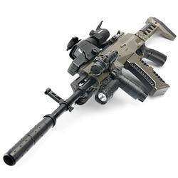 M762 AK15 pressure shotguningly real gun  military winchester Water Bullet shot gun sniper rifle telescope bullet weapon boy Toy