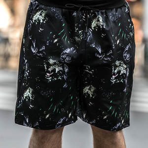 Pants Shorts Printed Straight Men's Plus-Size Summer Brand New Tide Five-Point Loose