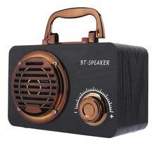 De Madera altavoz Vintage con Bluetooth portátil al aire libre de alta sensibilidad altavoces inteligente computadora caja de altavoz