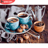 HUACAN Painting By Numbers Landscape Coffee Cup Acrylic Paint By Numbers For Adult Wall Art Picture Home Decors