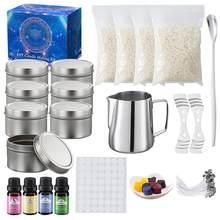 1 zestaw świeca zapachowa narzędzie do robienia świeca DIY wosk kubek świeca podejmowania zestaw ręcznie wykonana roślina niezbędna puszka oliwy prezent rodzinny zestaw
