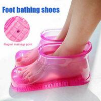 Ayak banyosu ıslatmak SPA varil terapi masaj ayakkabı gevşeme çamaşır botları ev ayak bakımı sıcak su Foot Soak banyo ayakkabıları|Şişme ve Taşınabilir Küvetler|   -