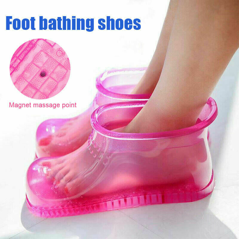 Foot Soak Bath SPA Barrel Therapy Massage Shoes Relaxation Washing Boots Household Feet Care Hot Water Foot Soak Bathing Shoes image