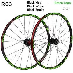 RT RC3-roues de vtt ultralégères VTT/26/27 pouces, 5 roulements, frein à disque, jeu de roues arbre baril
