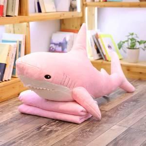 VKontakte Hottest Plush Shark Toy 2020 New Hot Stuffed Shark Plush Toy Stuffed Pink Shark Cushion Plush Toy Children Gift(China)