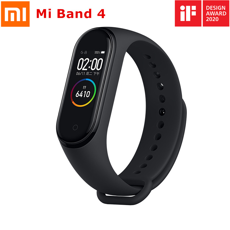 Original Xiaomi Mi Band 4 Smart Band AMOLED Touch Screen Fitness Tracker Heart Rate Monotor Mi Band 4