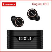 Auricolare Wireless originale Lenovo LP12 TWS Bluetooth 5.0 Dual Stereo riduzione del rumore bassi IPX5 impermeabile Standby lungo 400mAh